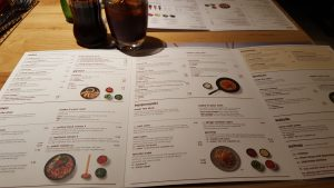 Menu at Wagamama Peterborough