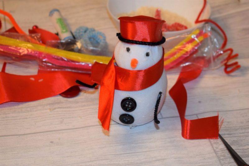 Christmas Snowman Sock Decoration