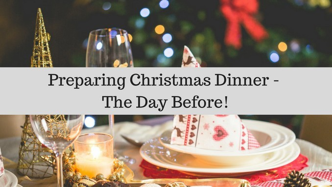 Preparing christmas dinner with a Panasonic microwave oven – The day before!