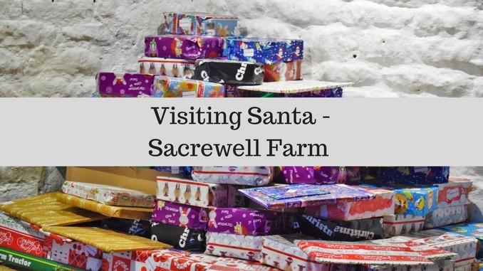 Visting Santa at Sacrewell Farm