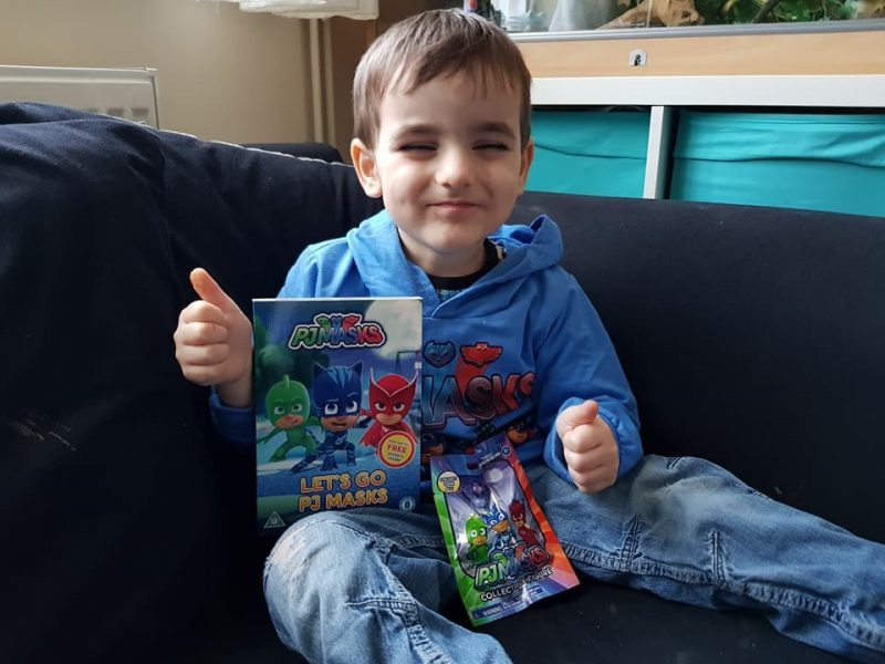 opening the Pj Masks DVD 'Let's Go' released on Monday 5th February 2018