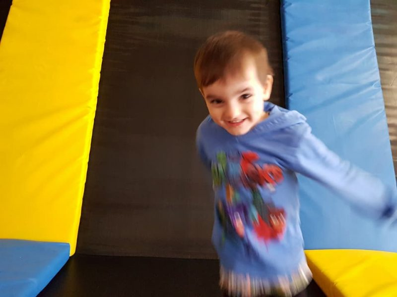 Small boy at Trampoline Park Tramp2Lean Peterborough