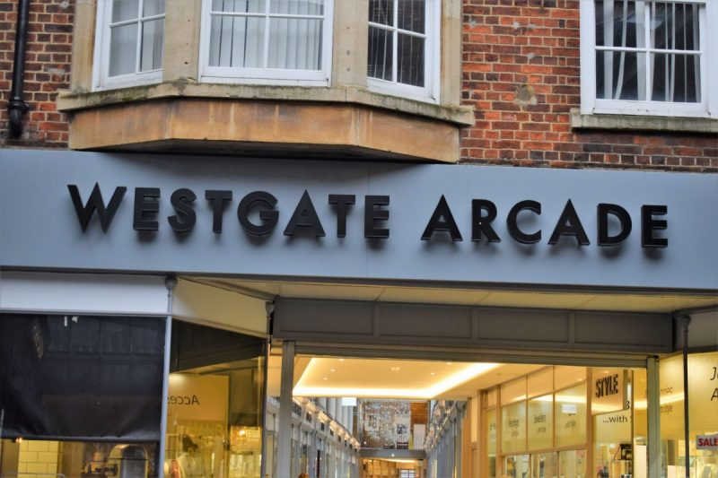 The front of Westgate Arcade