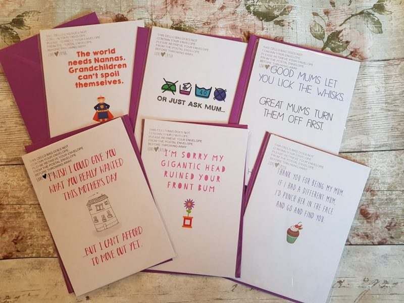 Selection of Love Layla Designs Mother's Day Cards