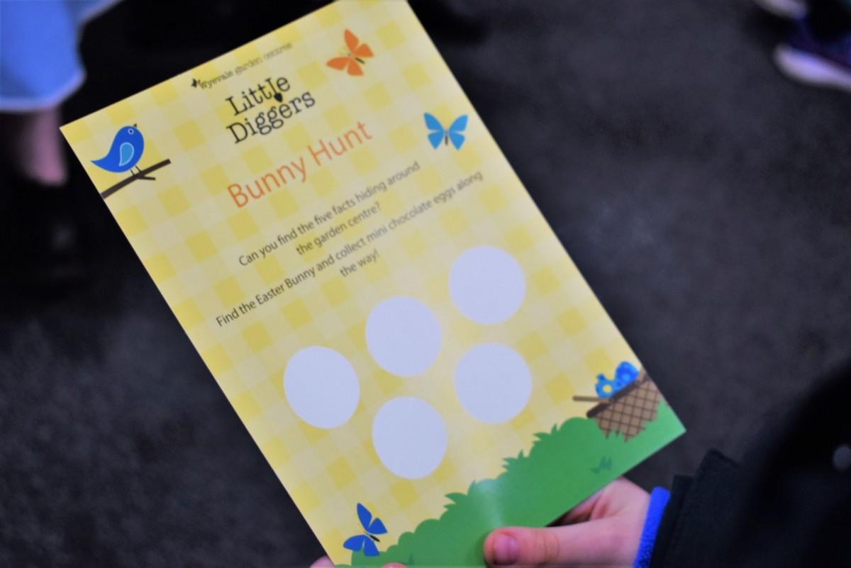 Easter Hunt card Wyevale Garden Centre